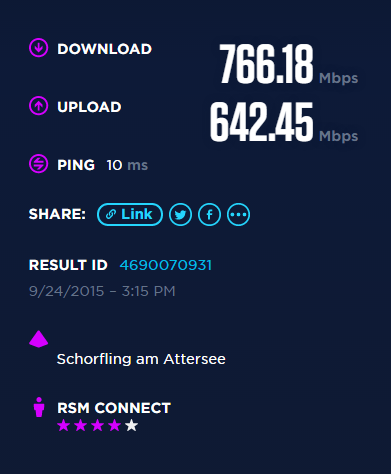 Speedtest RSM Freilassing